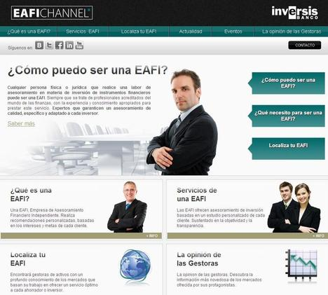 Inversis Banco impulsa EAFI Channel, la primera plataforma especializada en el asesoramiento financiero