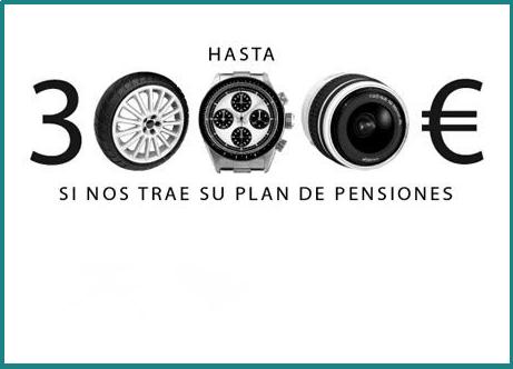Bonificación de hasta 3.000 € por traspaso de planes de pensiones