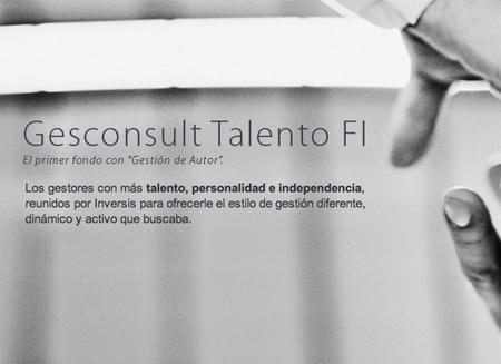 Gesconsult Talento, una apuesta alejada de los fondos 'al uso'