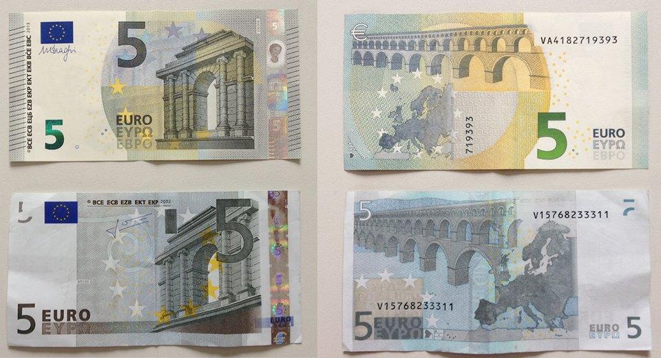 El nuevo billete de cinco euros: más seguro, pero inadaptado
