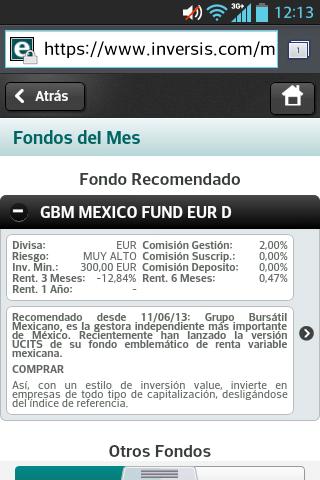 Cestas de Fondos y Fondos del Mes, ya disponibles en web mobile y web tablet de Inversis
