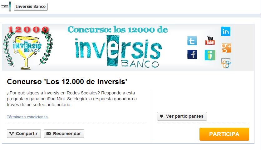 12.000 seguidores en redes sociales y 5 años en Twitter. Celébralo con nosotros con el concurso 'Los 12.000 de Inversis'