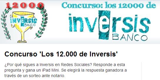 Concluye el concurso 'Los 12.000 de Inversis': Mañana conoceremos al ganador del iPad mini