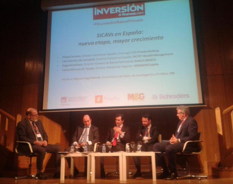 """Moreno de Tejada: """"El objetivo en banca privada es la preservación del patrimonio y esto sucede con las SICAVs"""""""