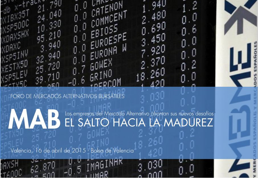 Andbank participa en Valencia en la Jornada 'MAB, el salto hacia la madurez'