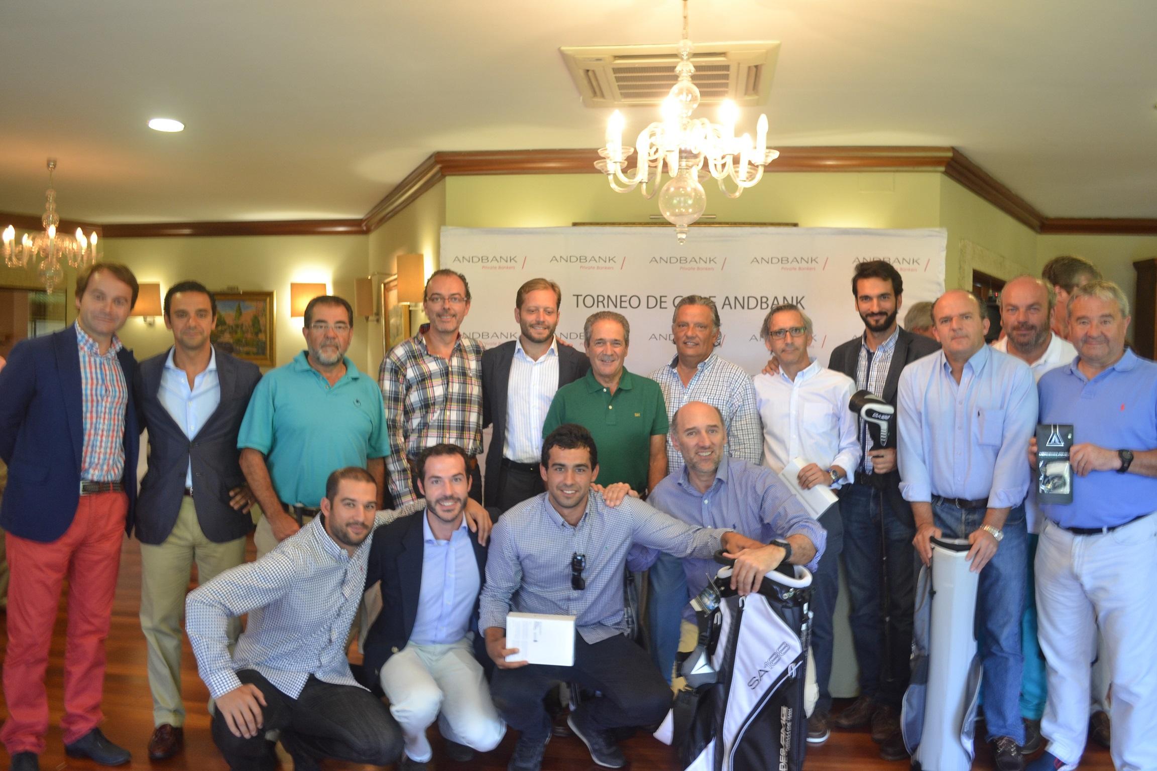El Torneo de Golf Andbank reúne a cerca de 80 jugadores en  La Coruña