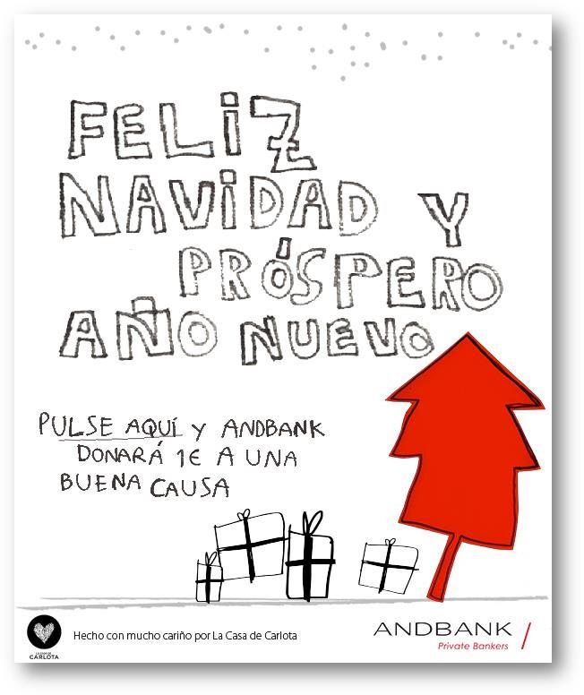 Andbank te felicita la Navidad de forma doblemente solidaria