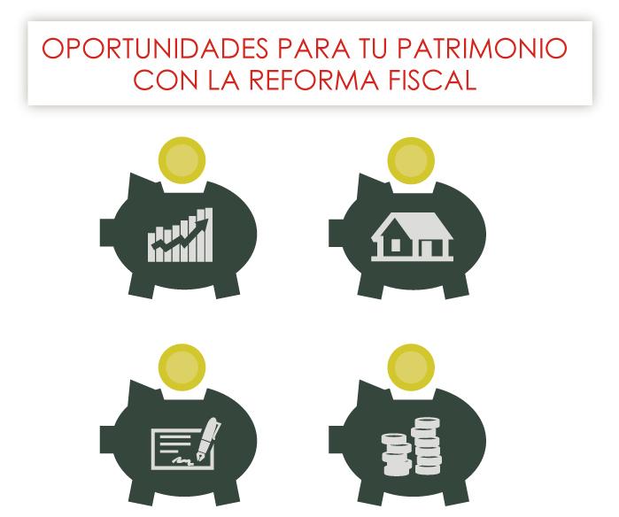 Infografía: oportunidades para tu patrimonio con la reforma fiscal