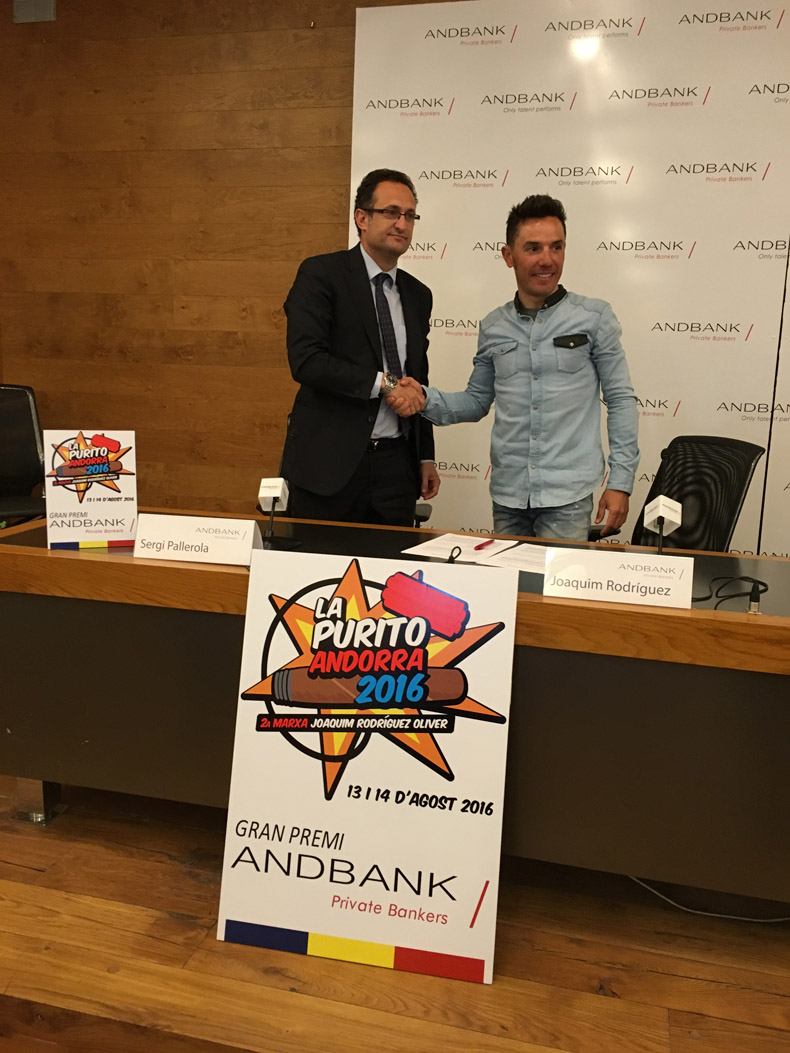 Andbank renueva el patrocinio del Gran Premio para La Purito Andorra 2016