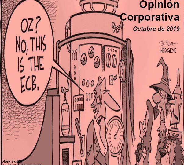 Opinión Corporativa sobre mercados financieros – Octubre 2019