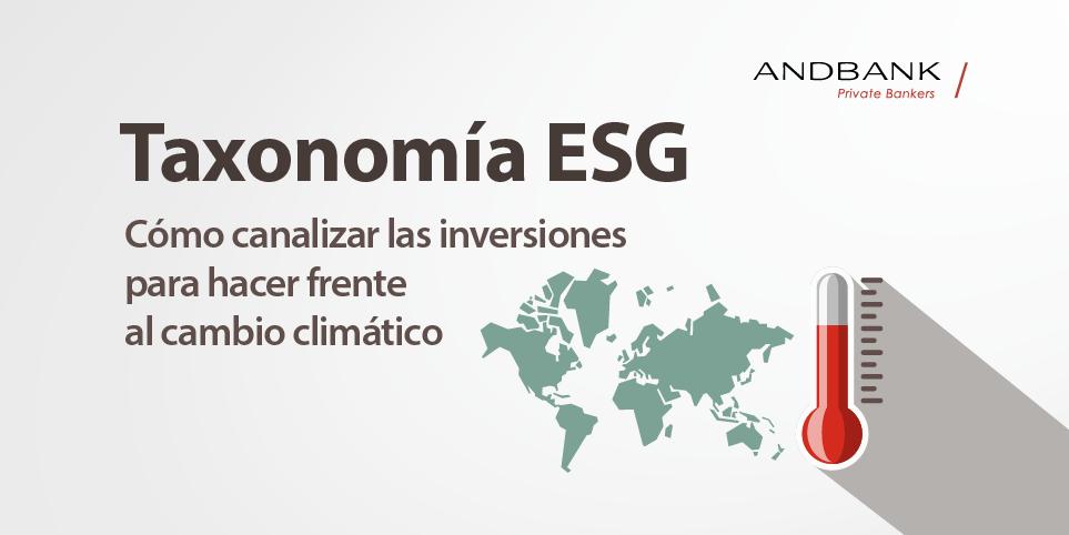 Taxonomía ESG: inversiones frente al cambio climático