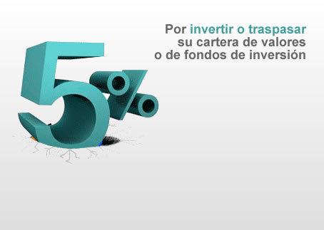 Inversis Banco ofrece un 5% por invertir o traspasar una cartera de acciones o fondos de inversión