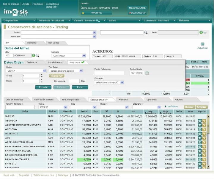 Inversis Banco mejora su broker online con una nueva plataforma: Trading 2.0.