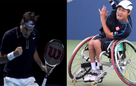 Conoce al Roger Federer del tenis en silla de ruedas