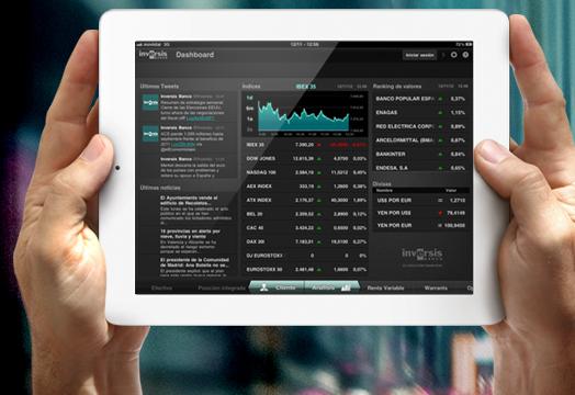 La App nativa para tablet de Inversis Banco permite la firma digitalizada