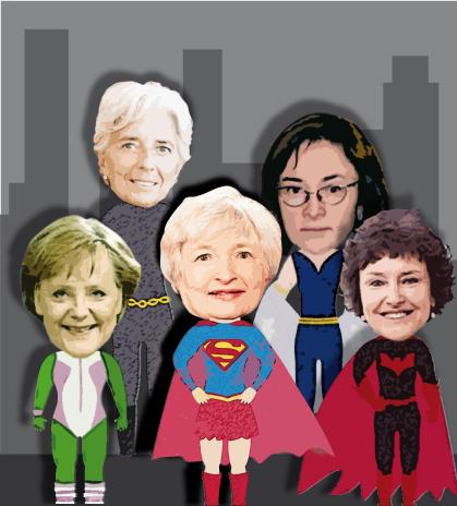 Infografía. Las superheroínas: Yellen, Lagarde, Merkel, Flug y Nabiullina