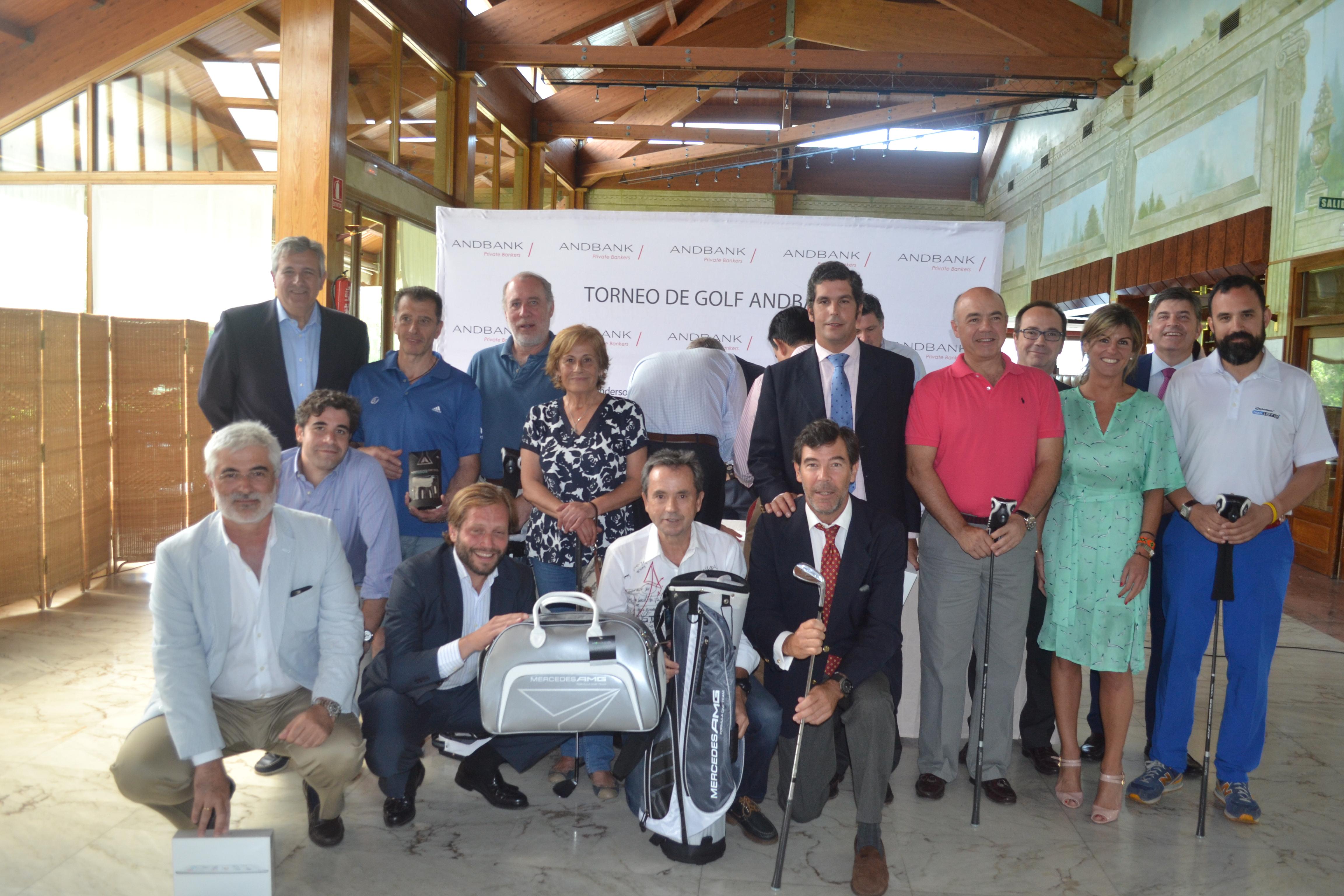 Cerca de 80 jugadores participan en el Torneo de Golf Andbank de Madrid