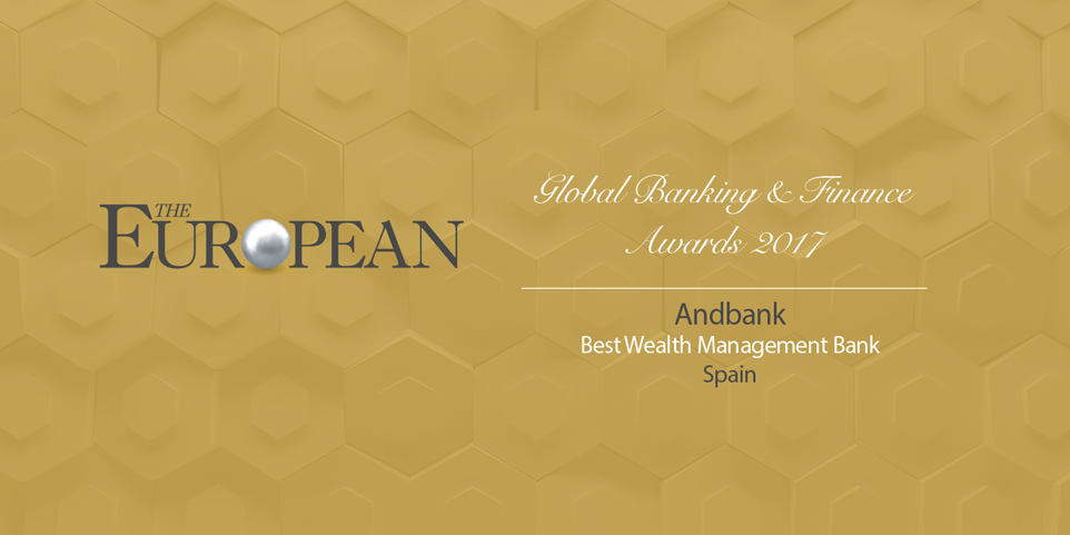 Andbank España recibe el premio Best Wealth Management Bank Spain 2017