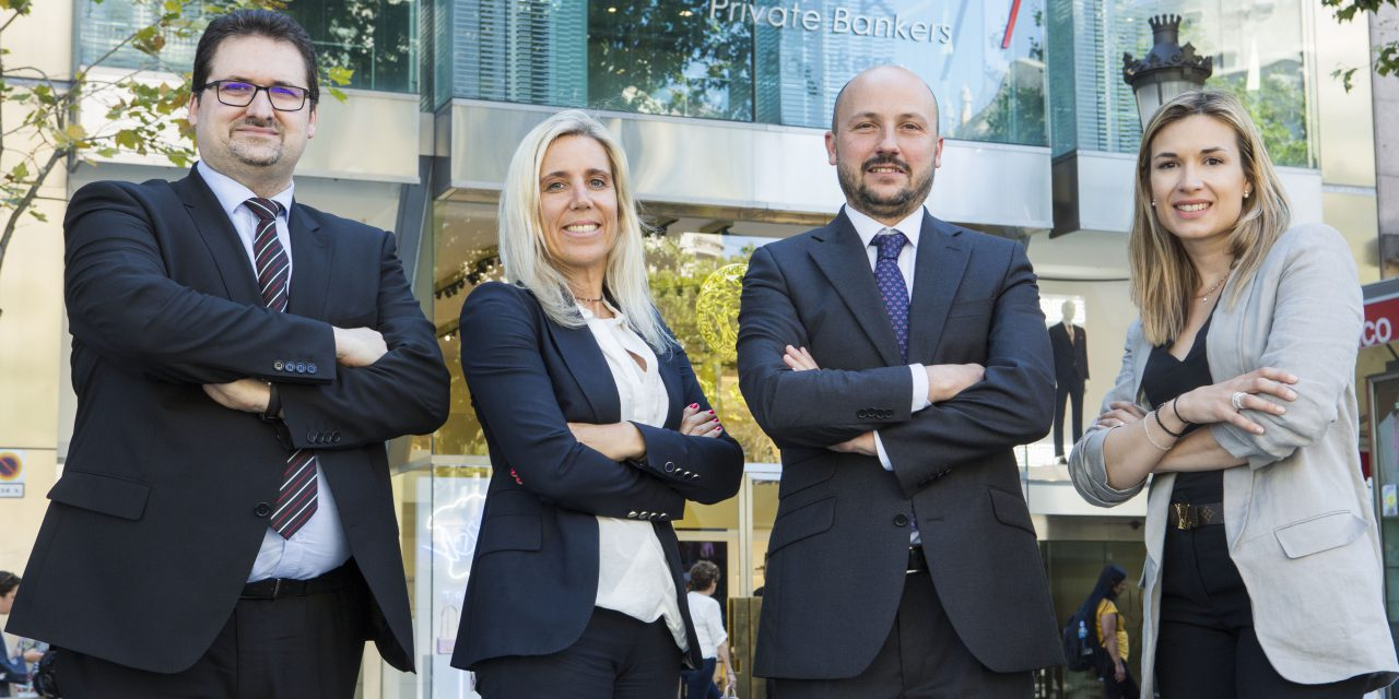 Andbank España refuerza su presencia en Barcelona con cuatro nuevas incorporaciones