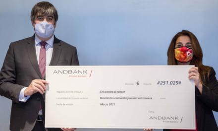 Por segundo año, Andbank GSI DESTINA parte SUS BENEFICIOS A LA INVESTIGACIÓN contra el cáncer